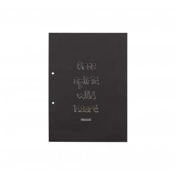 A4 BLACK LECTURE PAD
